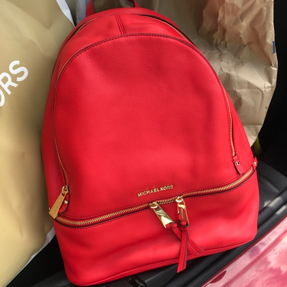 cd3805170d60 ... authentic michael kors backpack leather lager size mk 19d2c eab9c